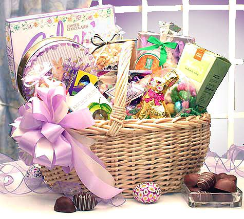 This easter gift basket packs a punch filled with chocolates this easter gift basket packs a punch filled with chocolates brownies marshmallow peeps negle Image collections