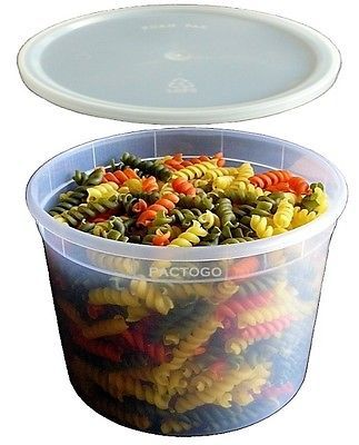 64 oz 12 Gallon Plastic Freezer Food Storage Deli Soup Container