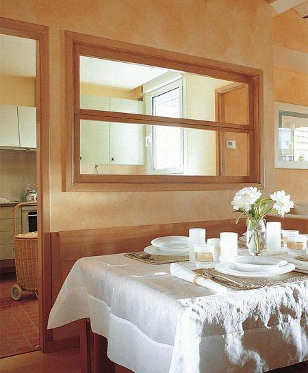 Pasaplatos con ventana que abre hacia arriba cocina - Pasaplatos cocina ...