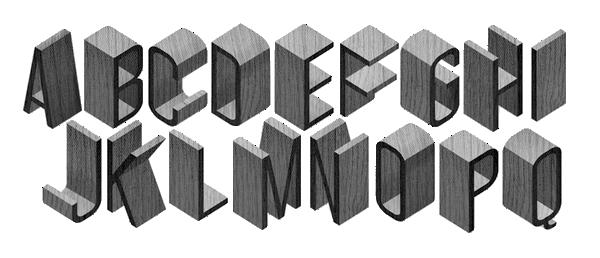 Pics For > Alphabet 3d Fonts | 3D fonts | Fonts, Typography