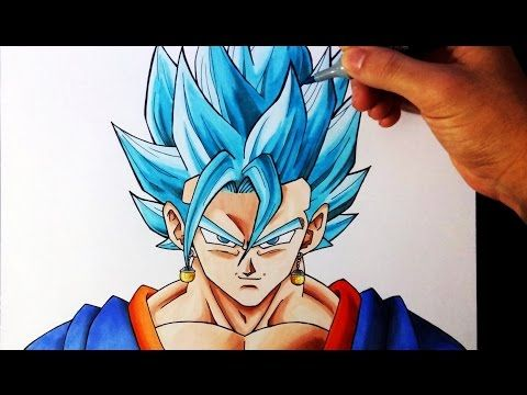 Cómo Dibujar A Vegetto Ssj Dios Azul How To Draw Vegetto