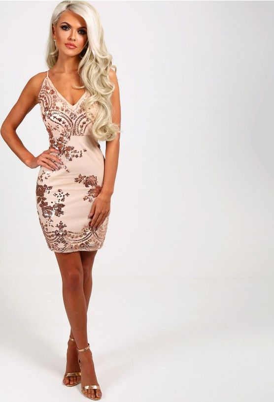 4c51061e Meilani Rose Gold Sequin Mini Dress - 8 | PB Faves! | Sequin mini ...