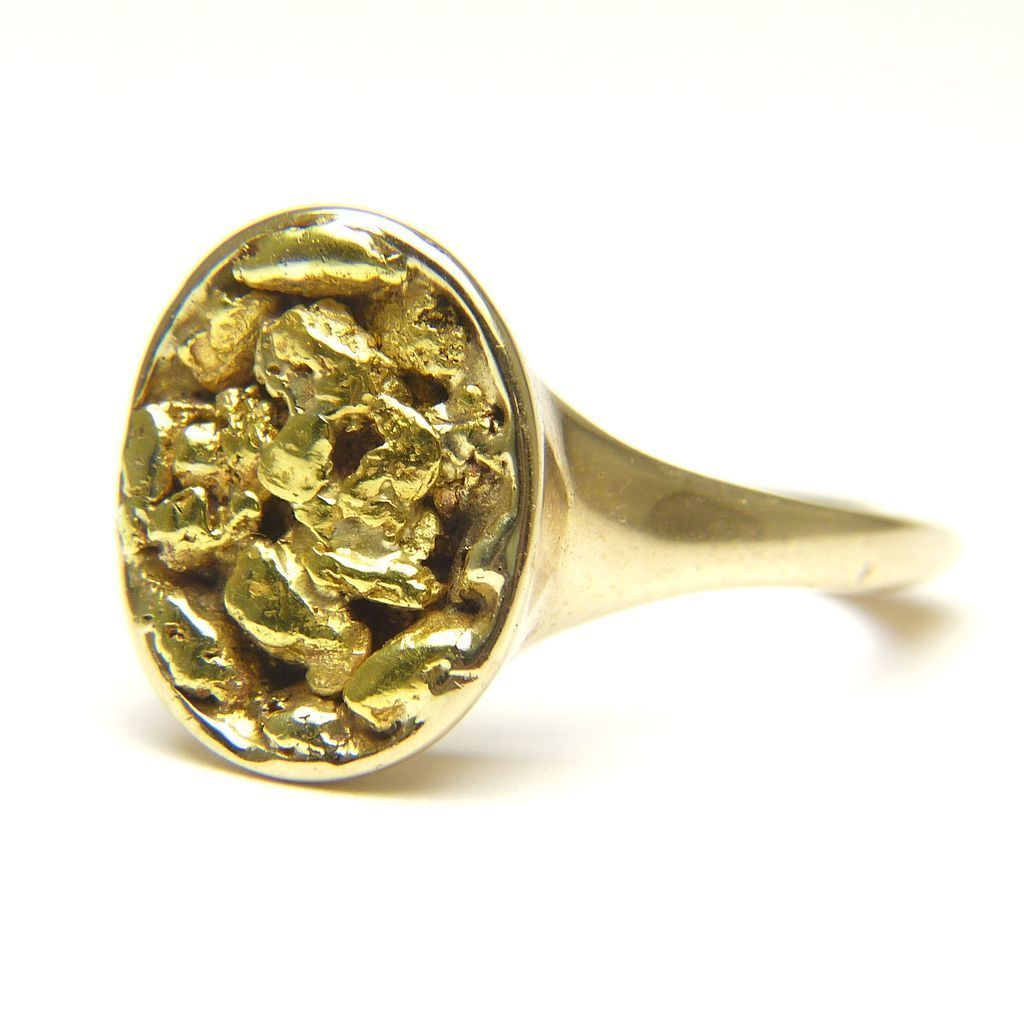 Nugget Ring In 24k Gold And 10k Gold 10k Gold 24k Gold Gold