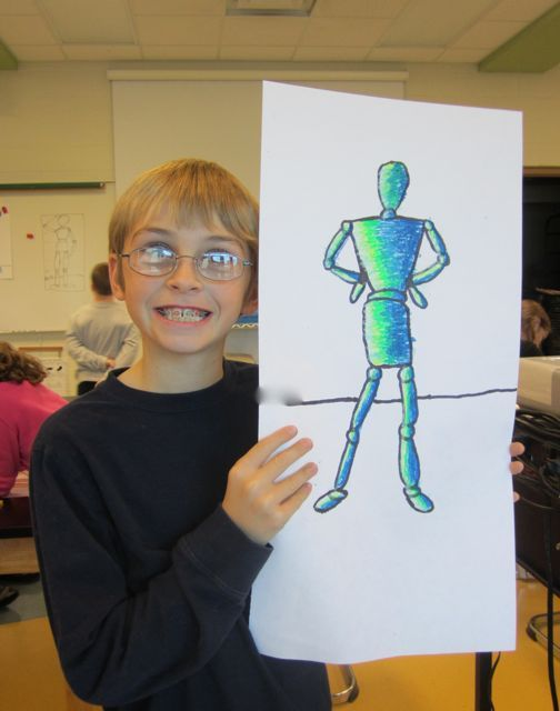 4th grade figure drawing