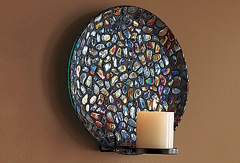 Aurora Mosaic Wall Sconce Sconces Candle Wall Sconces Wall Sconces