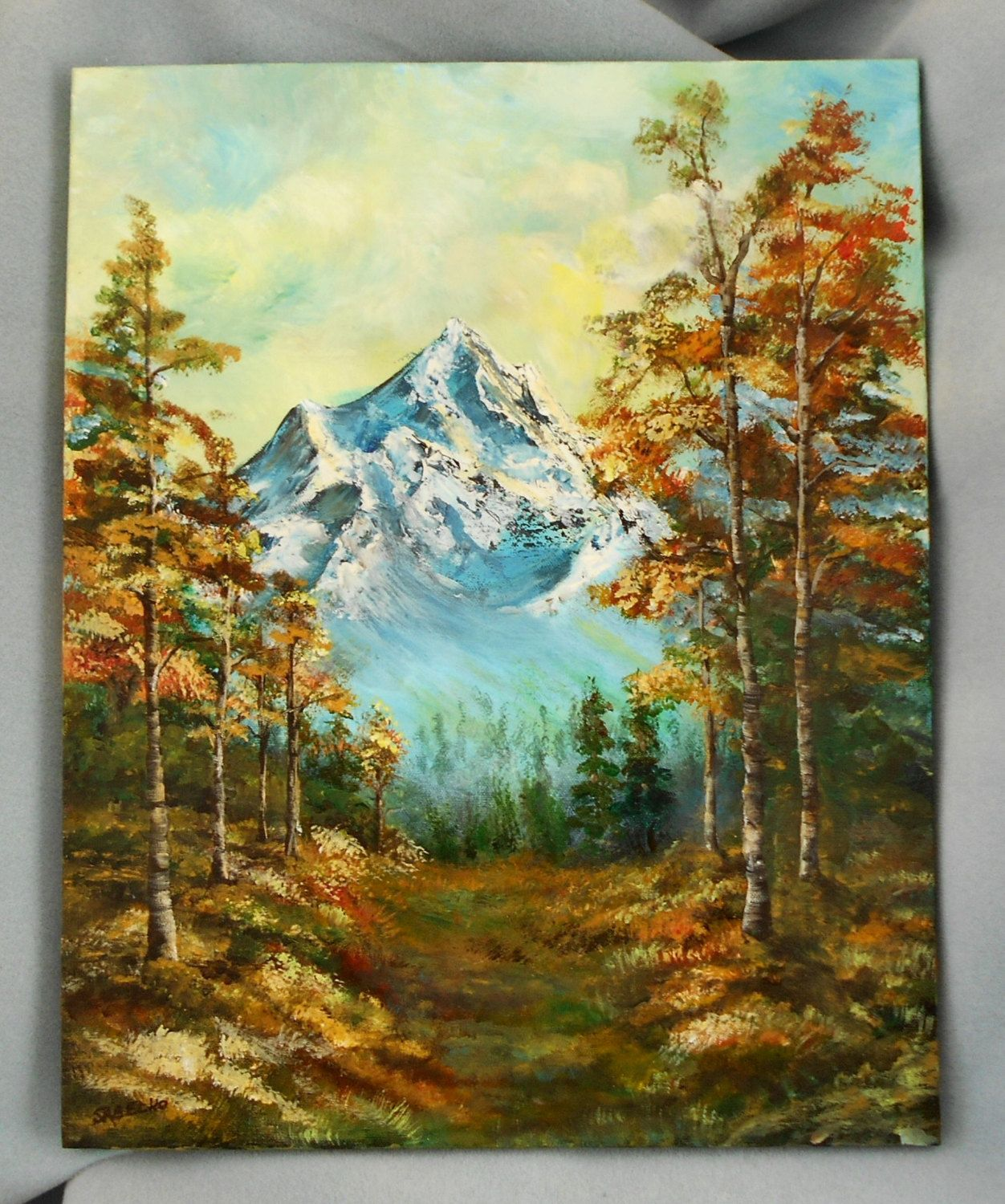 Aspen Mountain View Study Original Painting by HouseOfGourds on Etsy