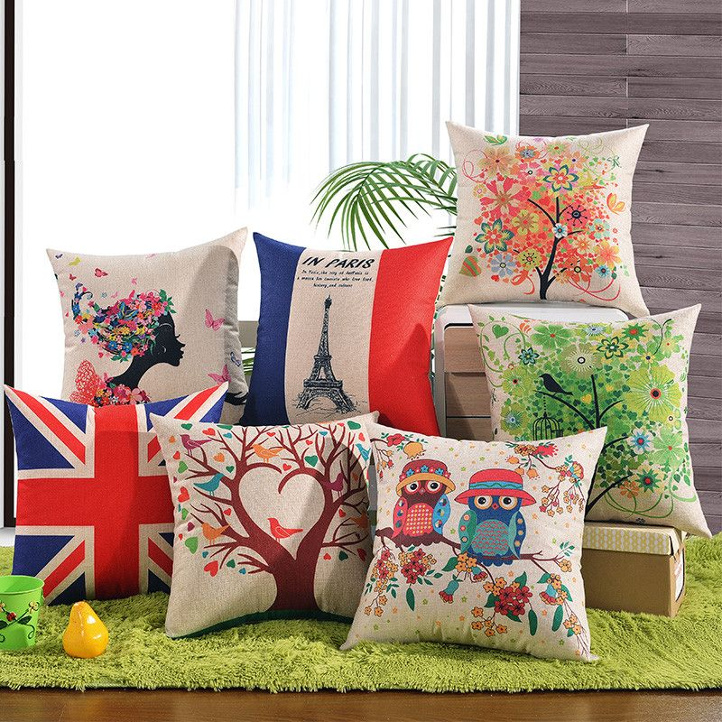 UK Canada USA Paris Home Sweet Home Cushion Covers Love is All We