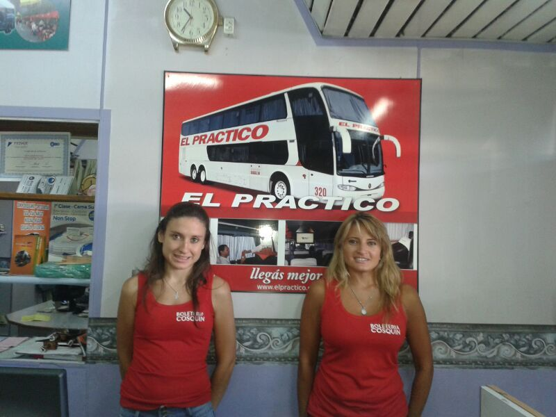 Boletería de El Práctico en Cosquín.Terminal de Ómnibus, Pte. Perón y Salta, Local 6. Tel: (03541) 454888