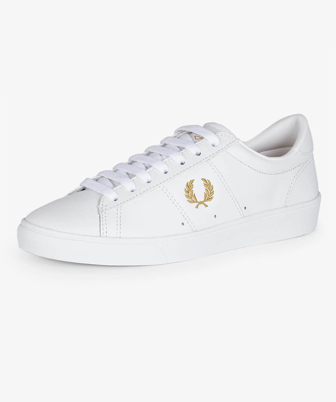 Buy Women Shoes / Fred Perry Spencer Mid Leather White Trainers