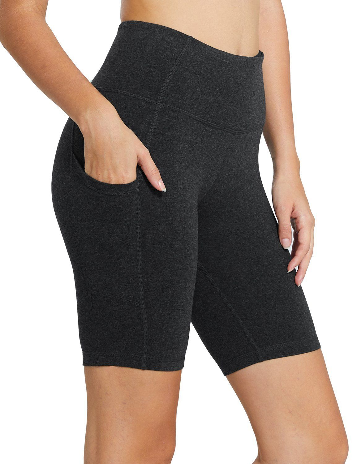 Sunday Oasis Womens Tights Highwaist Sports Yoga Workout Gym Running Trouser with Side Mobile Pockets