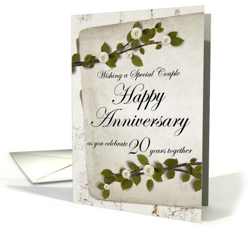 Wishing A Special Couple Happy Anniversary 20 Years Together Card Happy Anniversary Cards Wedding Anniversary Cards Happy Anniversary