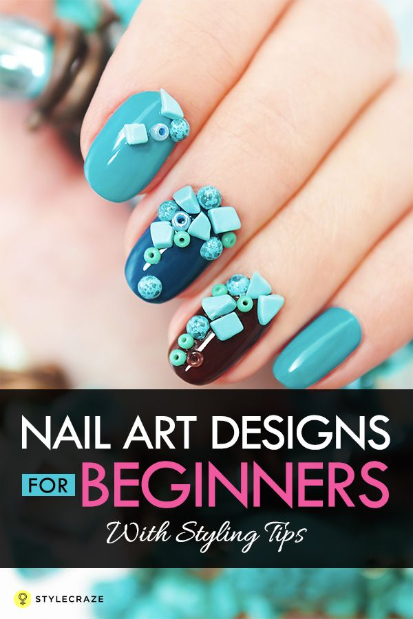 50 Simple Nail Art Designs For Beginners With Styling Tips Gold