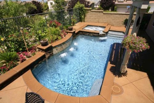 Small Backyard Pool And Spa | Small Traditional Pool Design By Los Angeles  California Pools
