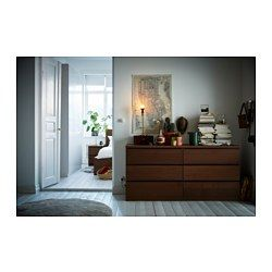 Malm 6 Drawer Dresser Brown Stained Ash Veneer For The