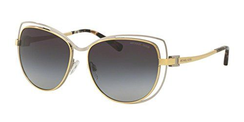 Michael Kors 112011 Silver  Gold 1013 Cats Eyes Sunglasses Lens Category 3 Siz ** You can get additional details at the image link. (Note:Amazon affiliate link)