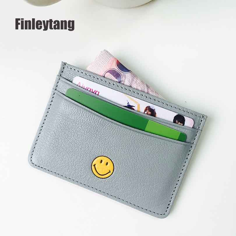 Wallet business card holder bank card holder sheepskin pickup wallet business card holder bank card holder sheepskin pickup package bus card holder cute mini slim reheart Choice Image