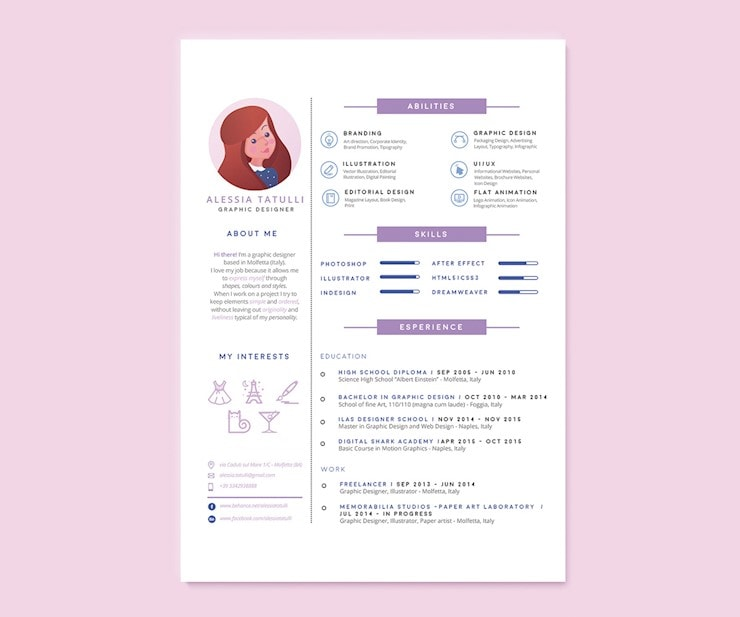 70 Creative Beautiful Resume Examples To Get Inspired Hipsthetic Resume Design Creative Graphic Design Resume Resume Design