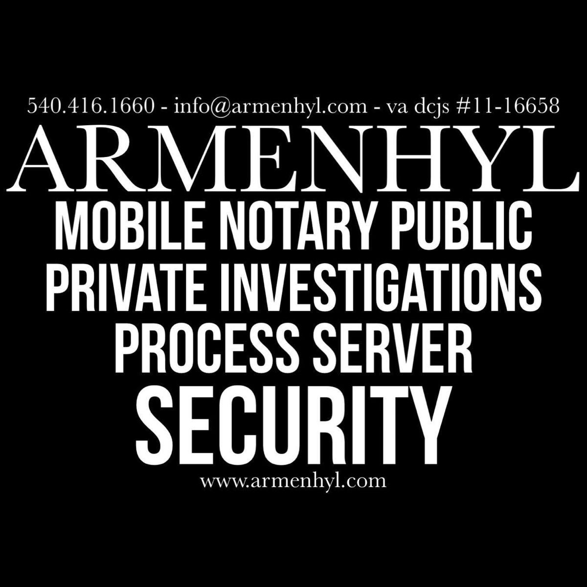 Armenhyl Staunton Virginia Process Service Augusta County Va