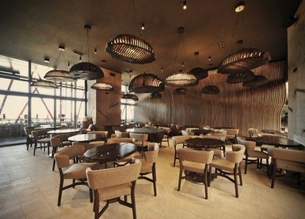 Don Cafe House Inspired Interiors Transport You Inside A Sack Full Of Coffee Beans Cafe House Cafe Decor Cafe Interior