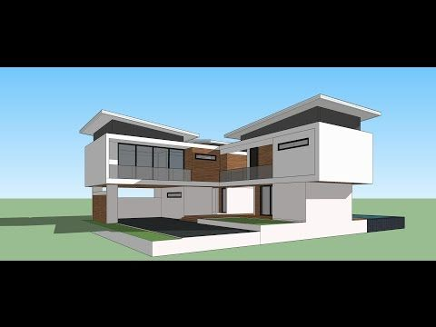 Tutorial Sketchup 2016 Create Modern House Model Youtube