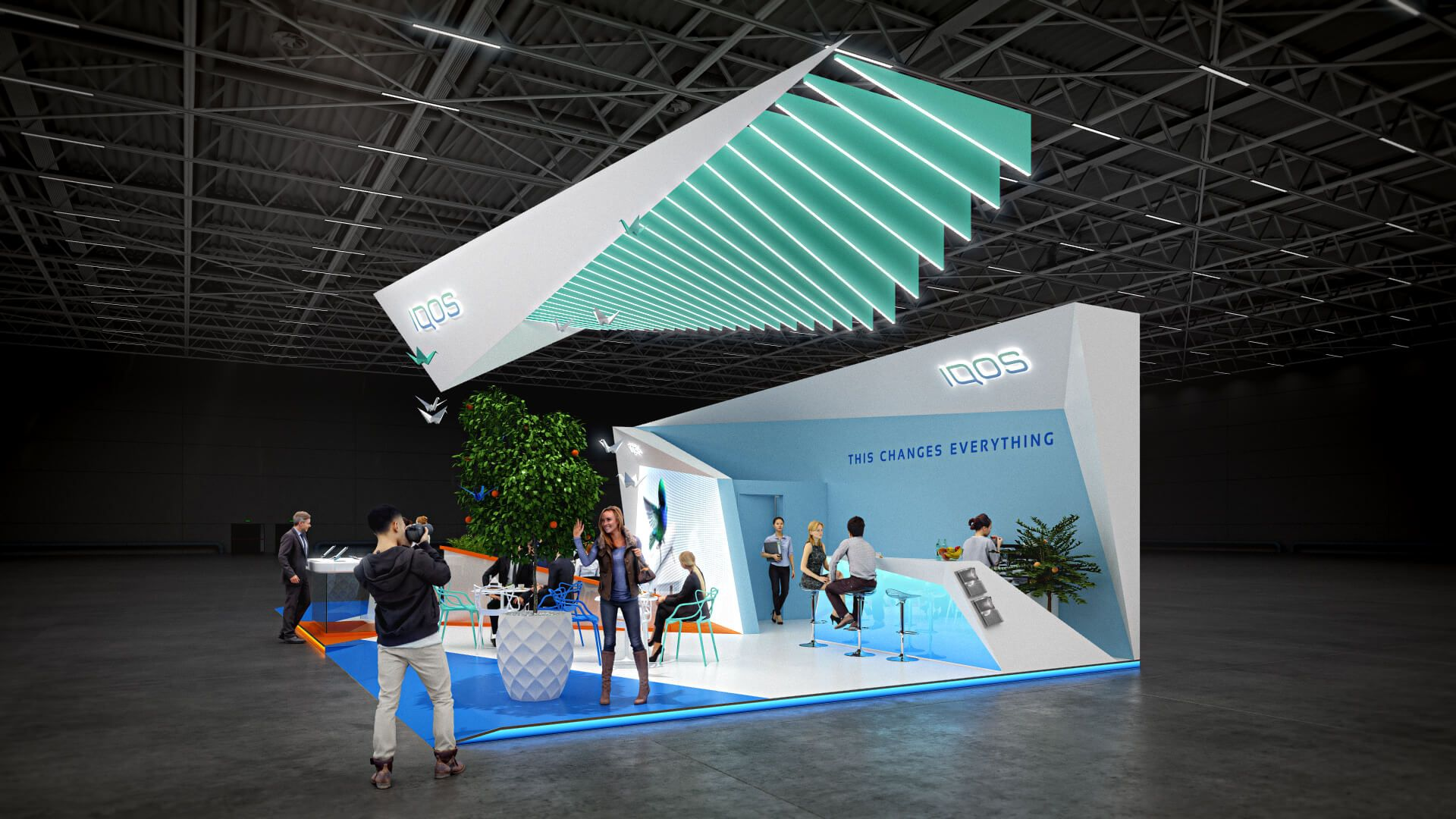Exhibition Stand Design Concepts : Iqos exhibition booth design concept exhibition design