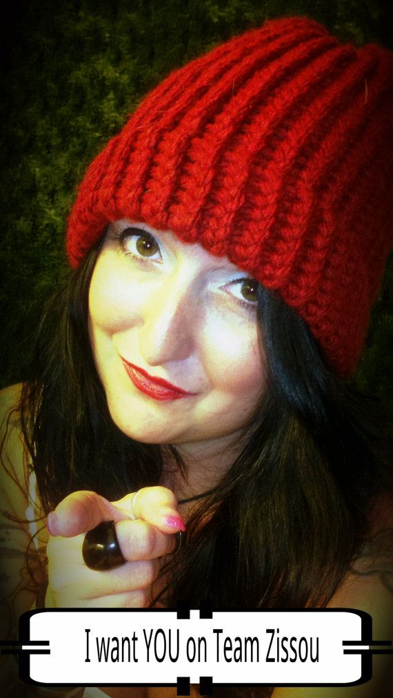 Team Zissou Red Beanie Knit Hat The Life Aquatic with Steve Zissou by  ArielArts fe72de92b45