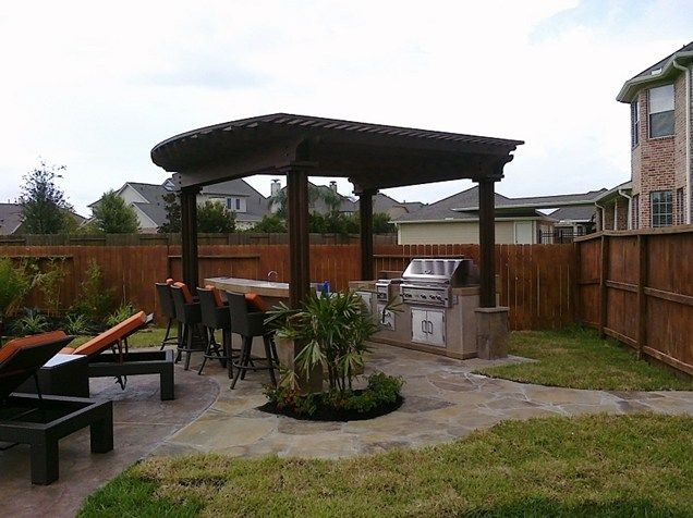 Bon Grill, Pergola, Backyard, Barstools Pergola And Patio Cover RockFrog  Backyard Escapes Katy,
