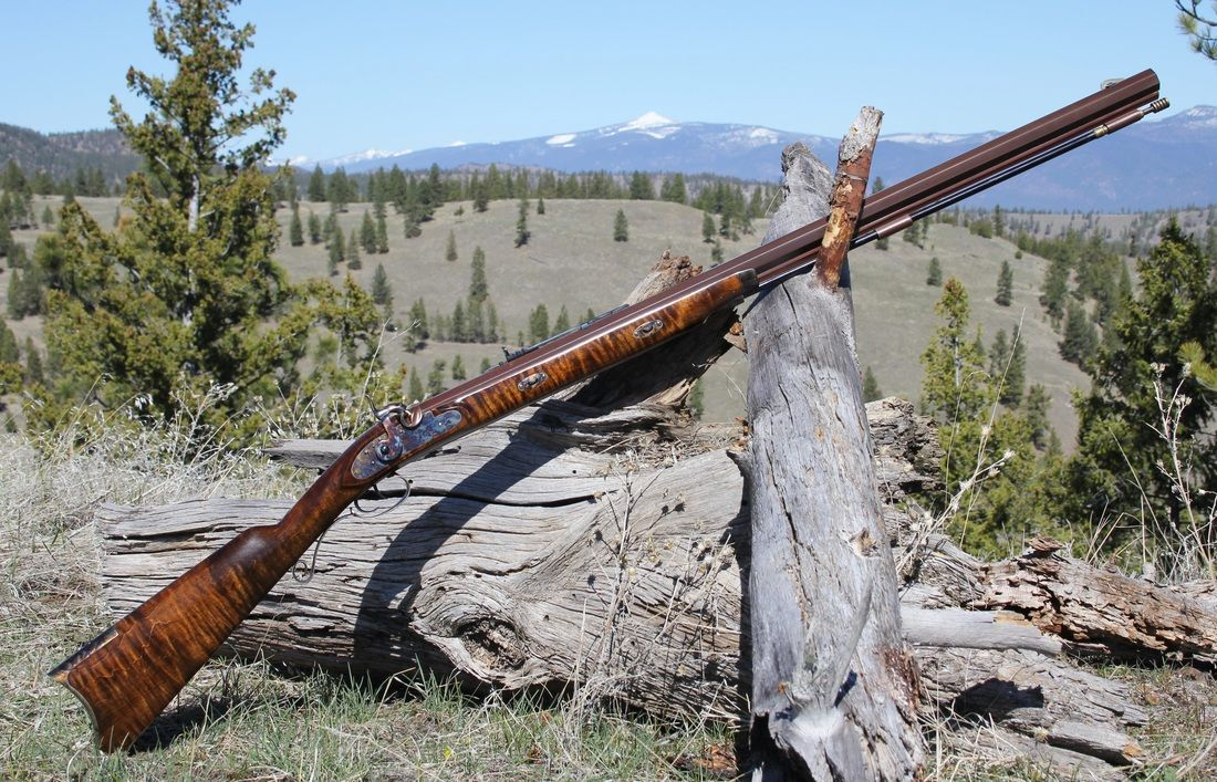 Davide pedersoli rocky mountain hawken rifle maple stock