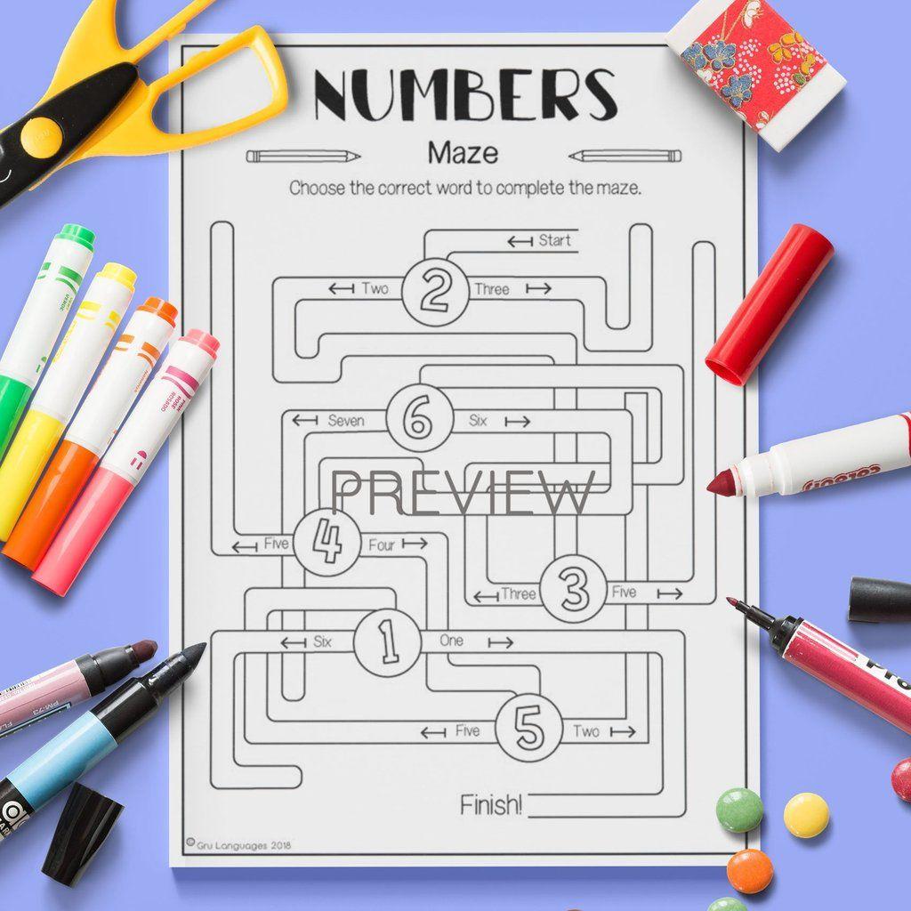 Numbers Maze Con Imagenes