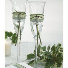 Celtic wedding flutes