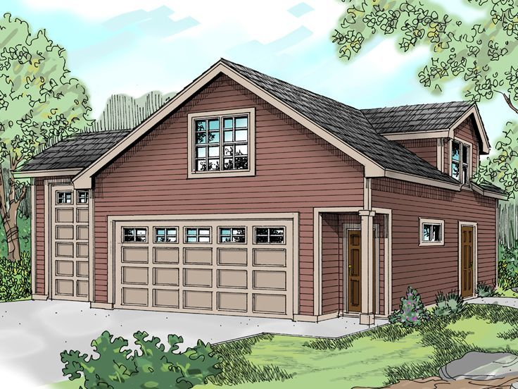 051G0022 RV Garage Plan with Recreation Room or Flex