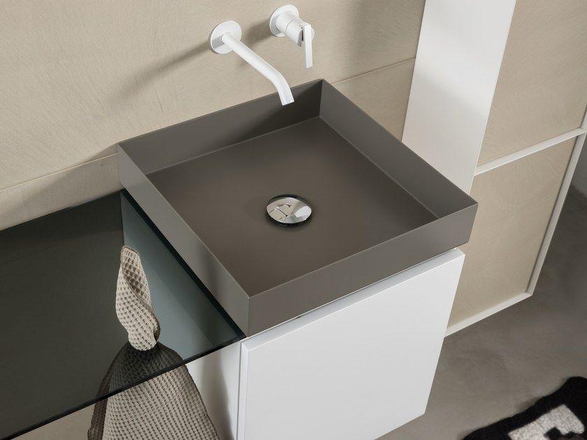 Sala Da Bagno Stile Contemporaneo : T lm steel washbasin house bagno moderno acciaio