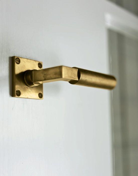Brass Door Lever