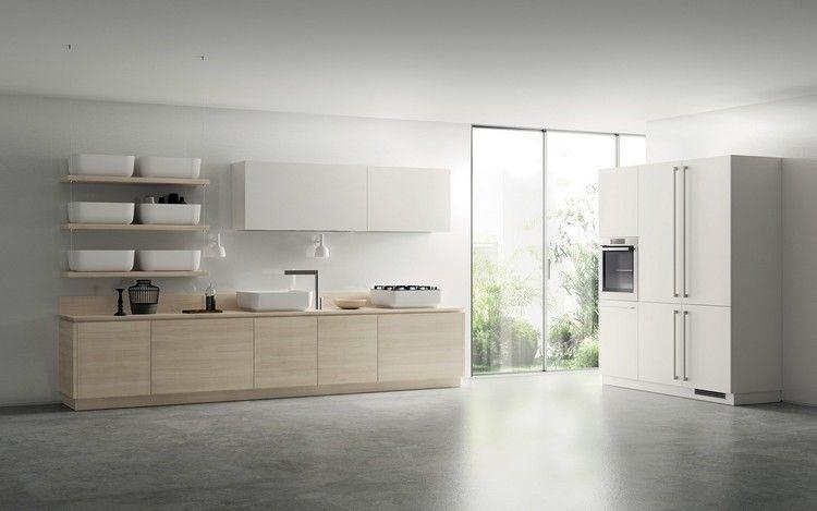 design küche weiß helles holz weiße becken #kitchen #bathroom - küche aus holz