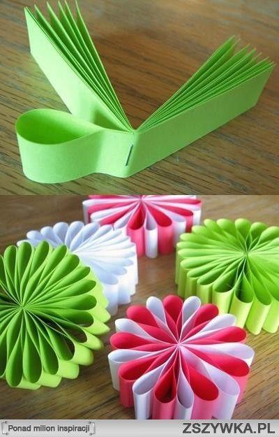 Kwiaty Z Papieru Na Dzieci Zszywka Pl Crafts Flower Crafts Christmas Crafts For Kids