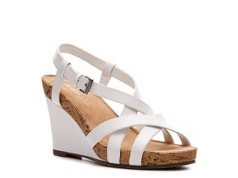 Aerosoles At First Plush Wedge Sandal Comfort Women's Shoes - DSW $40