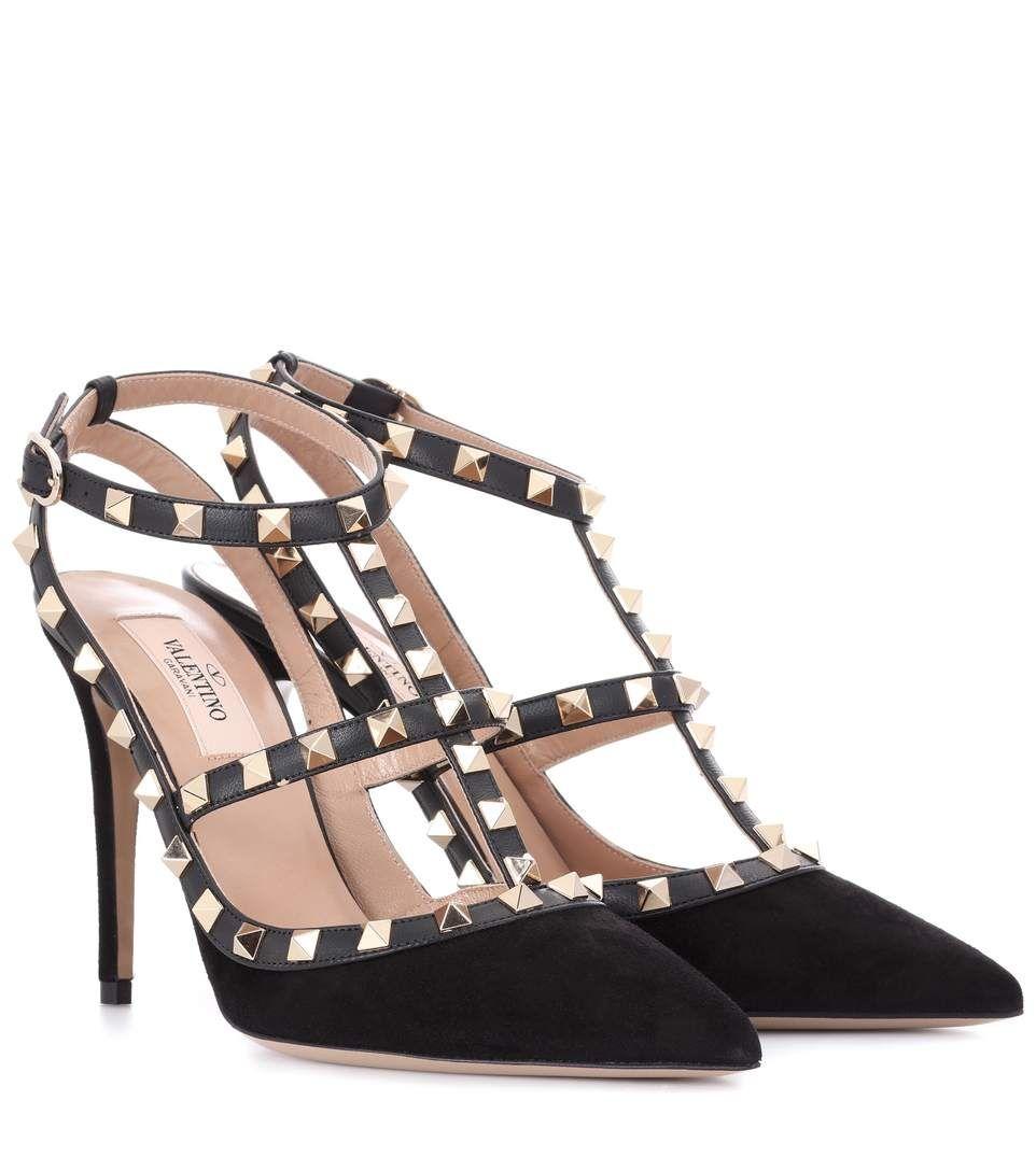 bbb4f6b342ff VALENTINO Valentino Garavani Rockstud Suede Pumps.  valentino  shoes  pumps