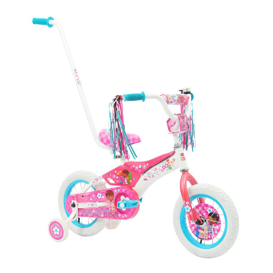 30cm Doc Mcstuffins Padded Bike With Parent Handle Toys