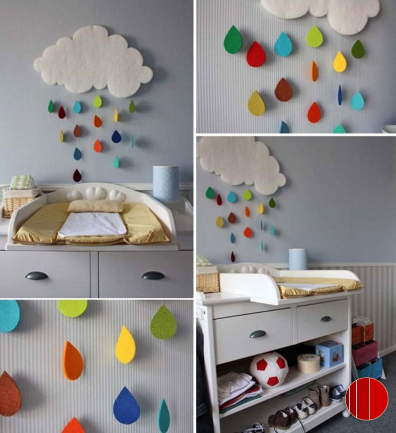"""""""Faça você mesmo"""" a coisa mais fofa para o quarto do bebê: Nuvem e Chuva"""