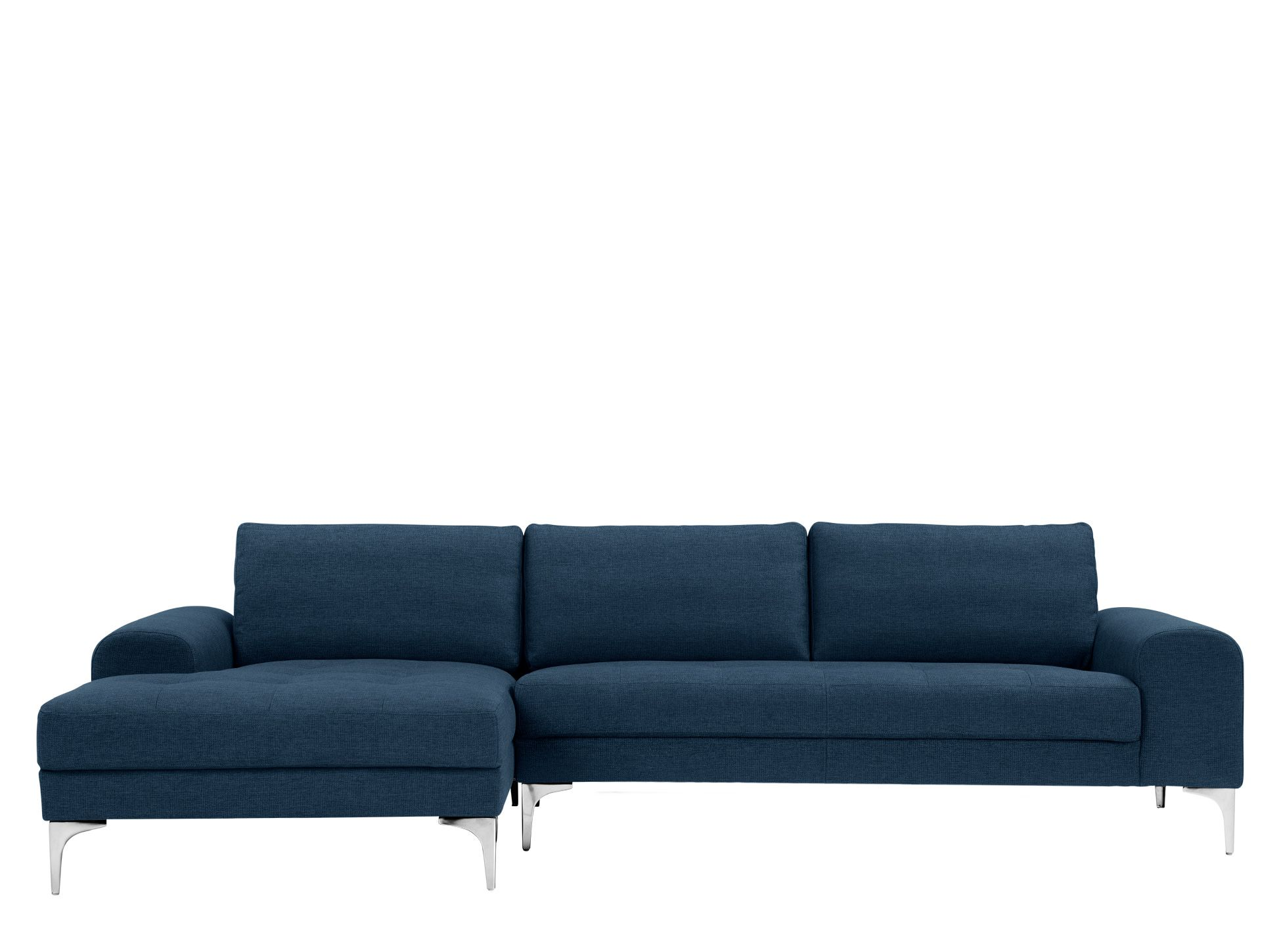 Vittorio Left Hand Facing Chaise End Corner Sofa Scuba Blue Corner Sofa Corner Sofa Bed Sofa