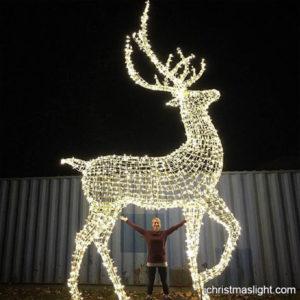 Large Reindeer Christmas Lights Outdoor Decor Ichristmaslight Reindeer Outdoor Decorations Outdoor Christmas Reindeer Lights Christmas Reindeer Lights