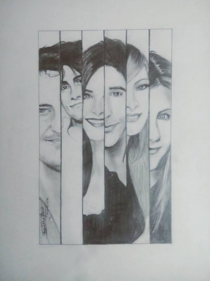 F.R.I.E.N.D.S. Tv Show- Sketch By Shraddha Raut | geek_stroke ...