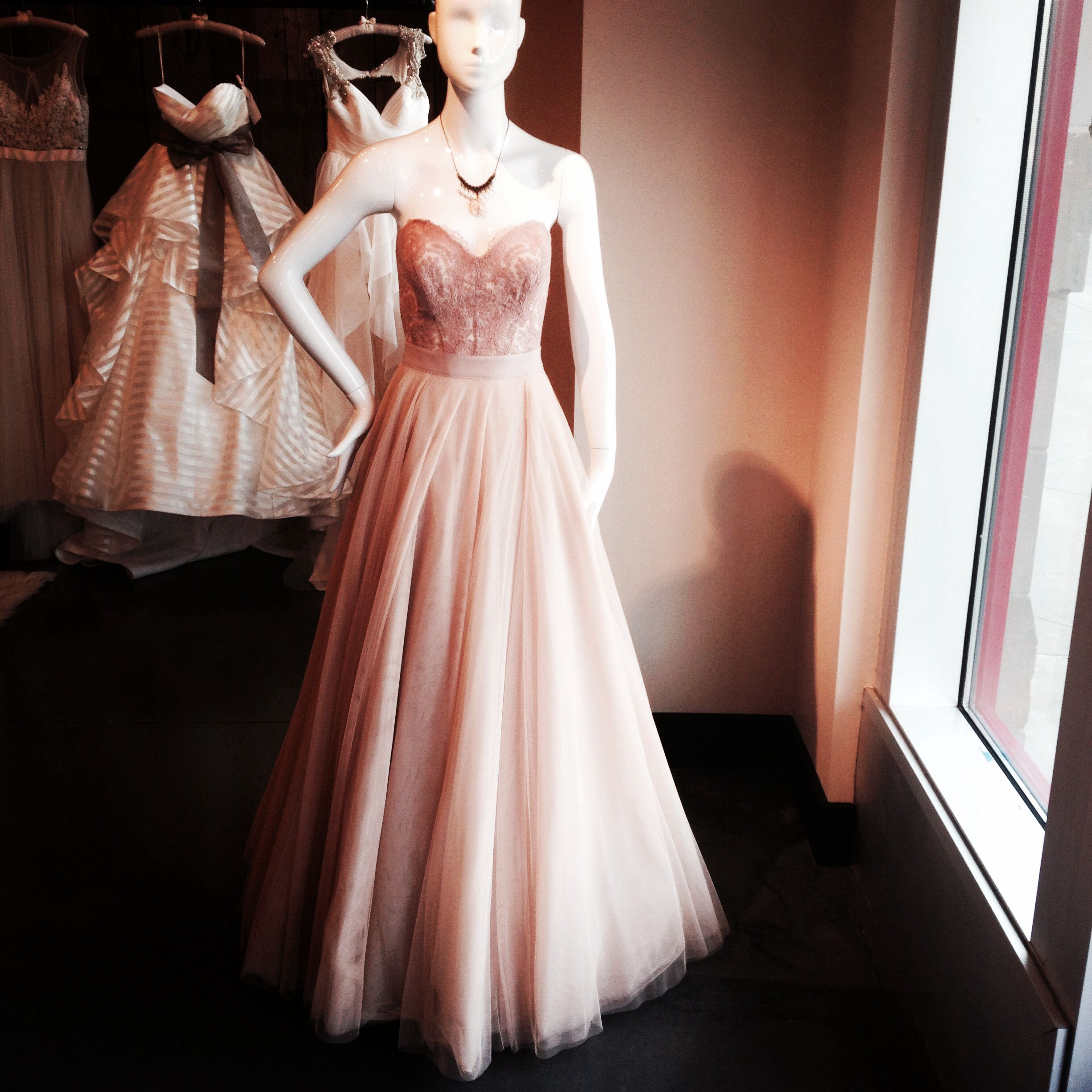 Blush Colored Corset And Skirt Wildflower Bridal Blush Colored