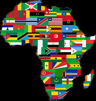 Afrique Continent Pays Drapeaux Drapeau Afrique Afrique Carte Afrique