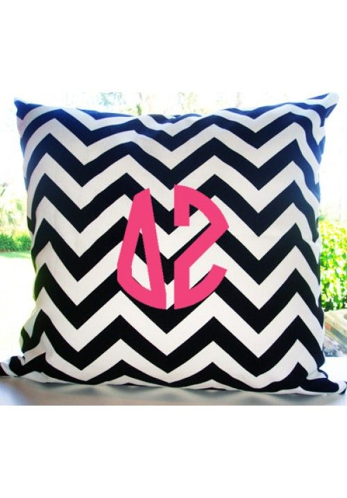 Delta Zeta Custom Decorative Throw Pillow | Teen Girl Dorm Room Bedding