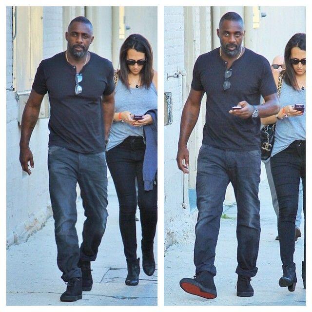 Idris Elba Wears Christian Louboutin Nono Flat Sneakers