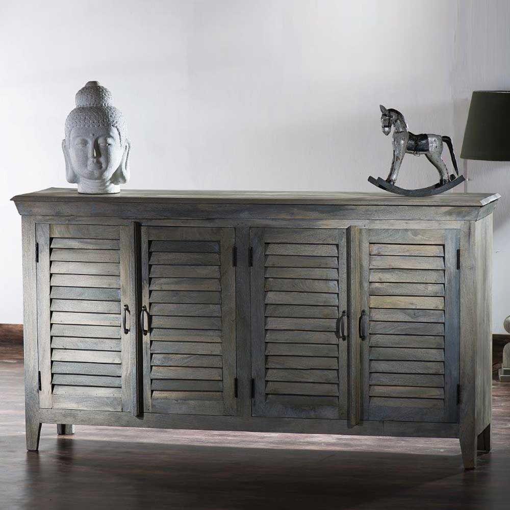 Sideboard Im Vintage Design Grey Wash Optik Sideboard ,wohnzimmerschrank,kommode,sidebord,küchenkommode