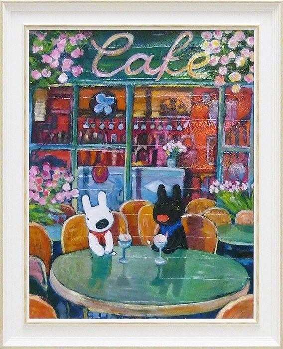 Art frame painting Lisa and Gaspar Gaspard et Lisa spring Cafe P06Dec14