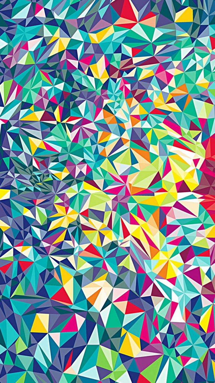 Ethnic iphone wallpaper - Colorful Shattered Glass Pattern Iphone 6 Wallpaper
