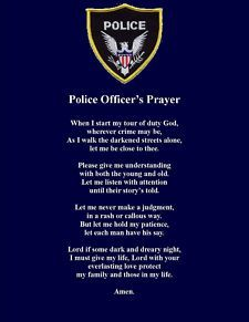 Police Officers Wives Prayer Police Officer Prayer Poem Wall Or